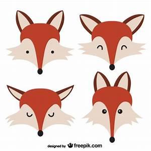 Fox faces Vector | Free Download