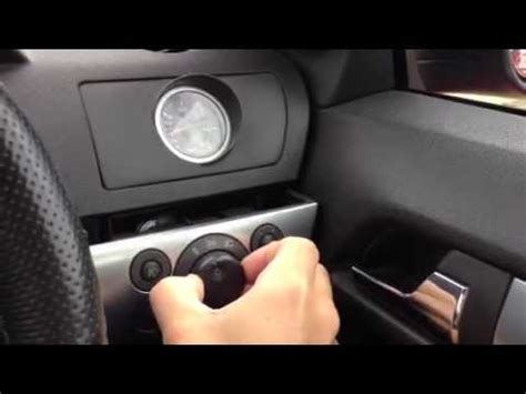 opel astra interior astra h headlight switch youtube