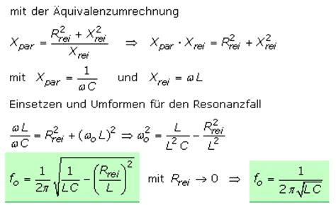 parallelschwingkreis mit resonanz und grenzfrequenzen