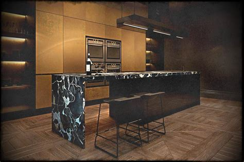 Marble Kitchen Island Breakfast Bar   Chiefs Kitchen Zone