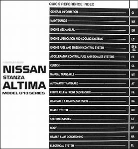 1993 Nissan Stanza Altima Shop Manual Original Repair