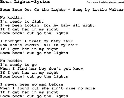 Lights Song by Blues Guitar Lesson For Boom Lights Lyrics With Chords