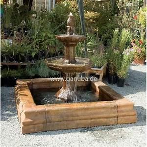 Gartenbrunnen carrara mit eckigem brunnen becken for Französischer balkon mit brunnen garten bohren