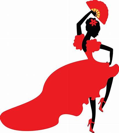 Flamenco Dancer Clipart Silhouette Clip Spain Lady