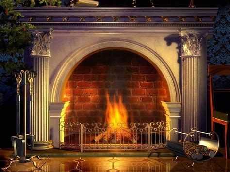 Backdrop With Fireplace by Fireplace Photo Backdrop