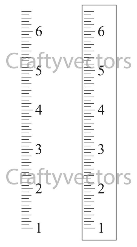 ruler template ruler growth chart vector template inches growth charts charts and etsy