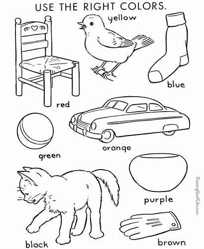 Coloring Number Kindergarten Colors Activities