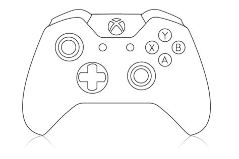 Xbox Controller Outline Front