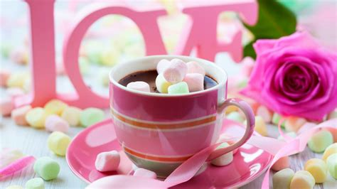 wallpaper valentines day romatic cup coffee rose