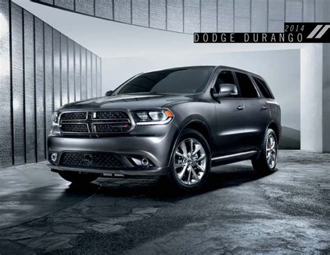 Chrysler Durango by Chrysler 2014 Durango Dodge Dodge Truck Sales Brochure