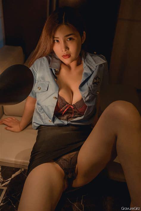 yan panpan 闫盼盼sexy big breasts police cosplay in tiny lingerie gravuregirlz part 6