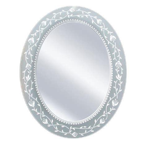 deco mirror      fushcia oval mirror
