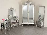 mirrored bedroom furniture Mirrored TV Stand Wardrobe Dressing Table French Style ...