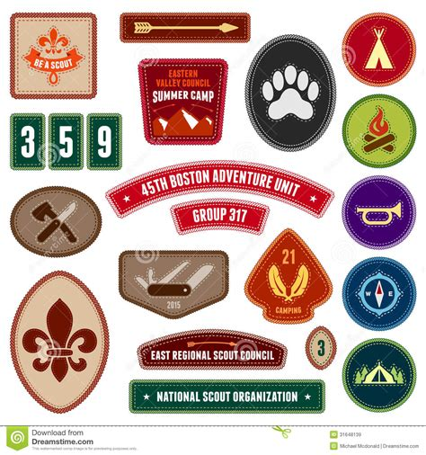 Scouting Badges Royalty Free Stock Images - Image: 31648139