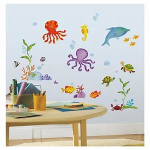 under the sea wall stickers 60 decals dolphin octopus fish With under the sea wall decals