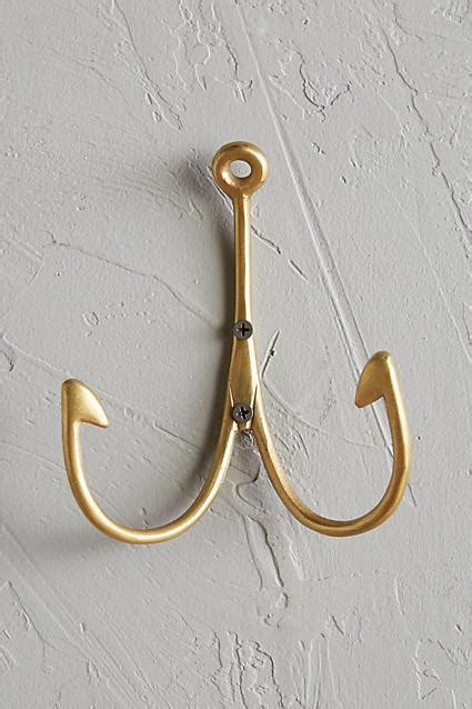 imm living wishbone hook  brass