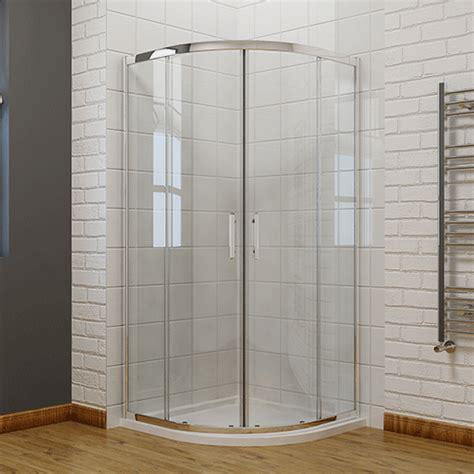 offset walk  quadrant shower enclosure corner cubicle