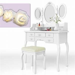 Coiffeuse 3 Miroirs : coiffeuse tabouret coiffeuse coiffeuse coiffeuse miroir rose s rie queen rose ebay ~ Teatrodelosmanantiales.com Idées de Décoration