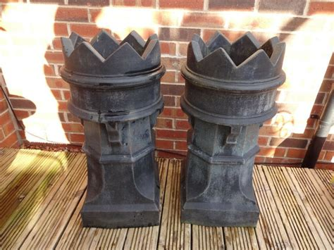 Garden Chimney by Matching Pair Of Large Plastic Chimney Pot Garden Pots
