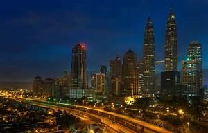 Wallpaper lights, skyscrapers, Malaysia, night, Kuala ...