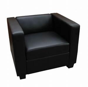 Fauteuil Simili Cuir : fauteuils fauteuil de salon simili cuir lille noir ~ Teatrodelosmanantiales.com Idées de Décoration