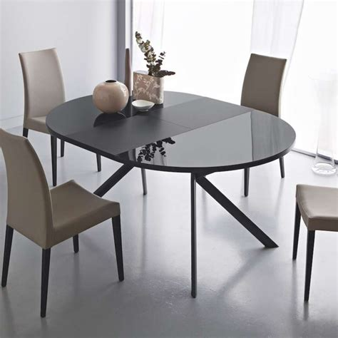 table ronde de cuisine table ronde extensible en verre giove 4 pieds tables
