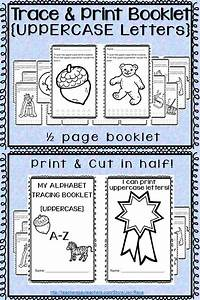 alphabet trace and print booklet uppercase letters With tracing letters booklet