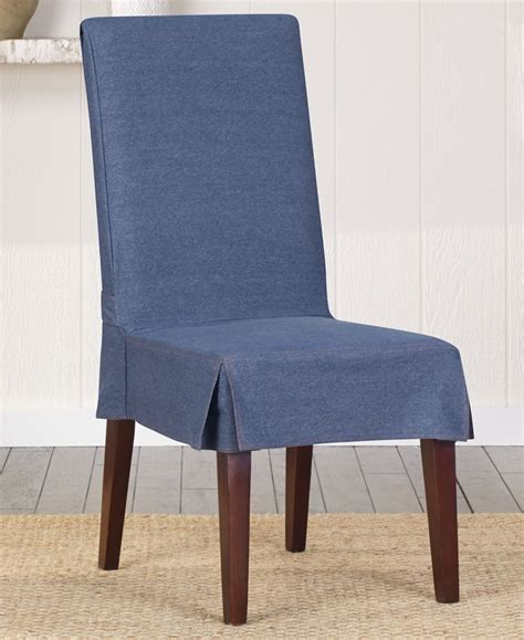 Dining Chair Slipcovers by Sure Fit Authentic Denim Dining Chair Cover Home