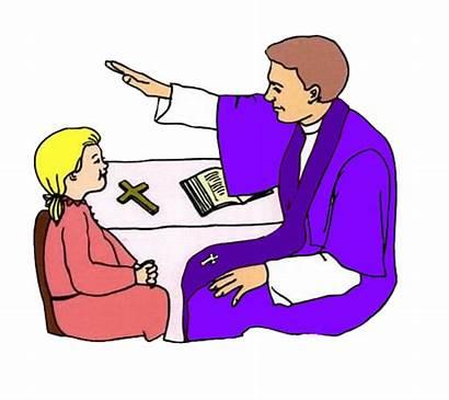 Reconciliation Sacrament Clipart Penance Priest Clipground Clip
