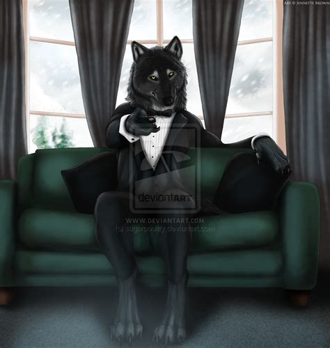 wolf furry tuxedo werewolf deviantart sugarpoultry anthro holy anime wolves yiff hybrid visit brown gentle