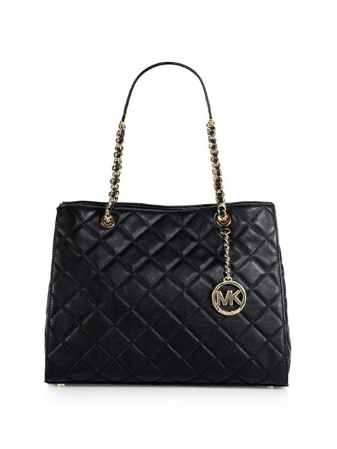 michael kors quilted bag michael michael kors susannah large quilted tote in black