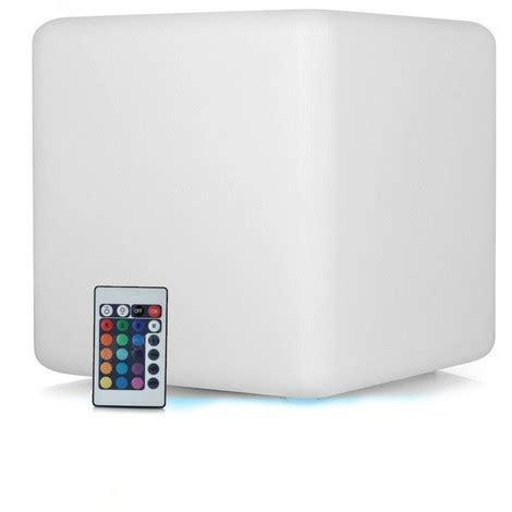 luminaire sans fil rechargeable cube led lumineux multicolore rechargeable sans fil 40cm ltt c400 luminaire