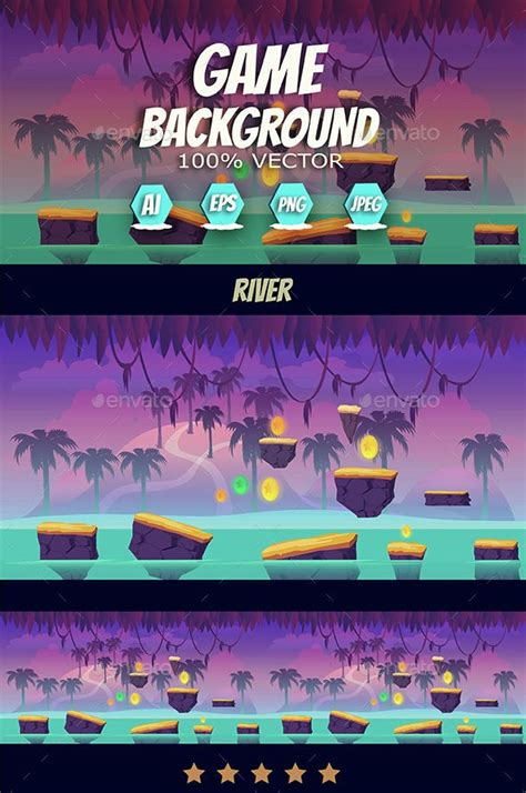 river jump game background backgrounds game assets