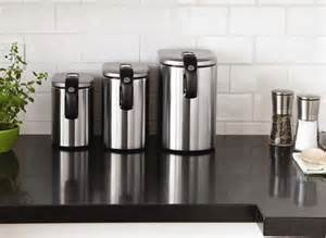 stainless steel kitchen canister stainless steel canisters decoist