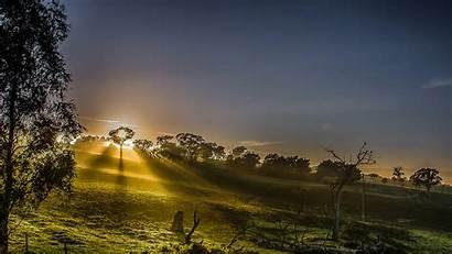 Langit Matahari Sinar Alam Rural Pemandangan Terbenam