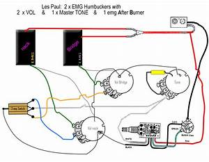 Les Paul With Emgs  U0026 After Burner Wiring Diagram