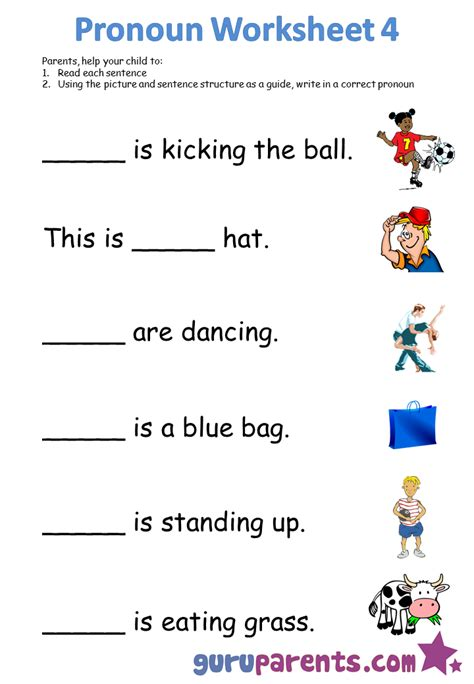 Pronoun Worksheets Guruparents