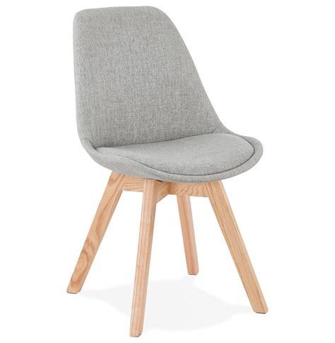 stoel hout stof scandinavische stoel willy in grijze stof designstoel