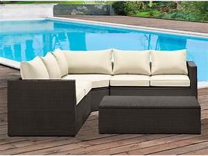 salon de jardin venice en resine tressee wengue un canape With tapis d entrée avec canapé en résine tressée