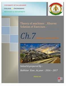 Theory Of Machines By Rs  Khurmi  Solution Manual   Chapter 7