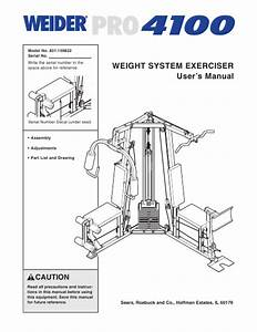 Weider Pro 4100 Manual