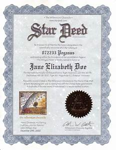 star deed name a star services the original online name With star naming certificate template