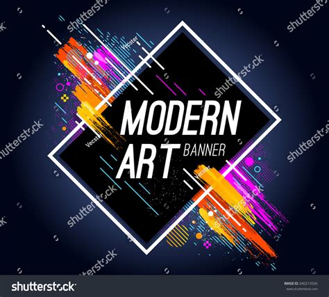 modern art banner bright abstract design stock vector
