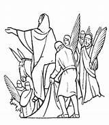 Palm Sunday Jesus Jerusalem Coloring Drawing Getdrawings sketch template