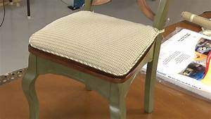 How to make your own chair pad cushions youtube for Chair cushion covers with ties