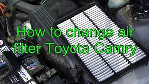 How To Change Air Filter Toyota Camry  Years 1991 To 2002