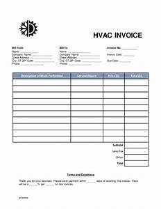 hvac invoice template medical form templates With hvac invoice template pdf