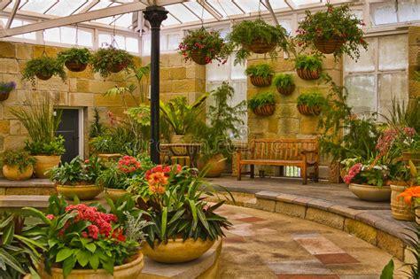 Indoor Gardening : Scenic Indoor Garden Area Stock Image. Image Of Floral