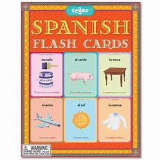 56 Flash Cards Teach Basic Spanish Words About Nature, Animals, Clothing, Colors, Things In The