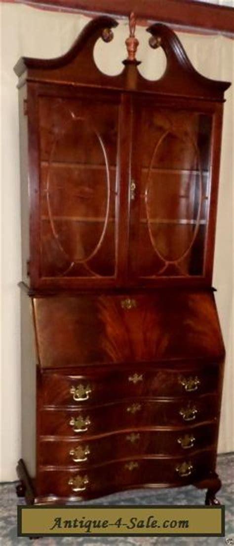 jasper flame mahogany secretary desk lighted cabinet